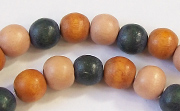 Round, 8mm, Wood, M5 beads, DYED WOODEN BEADS