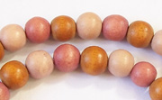 Round, 8mm, Wood, M27 beads, DYED WOODEN BEADS