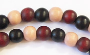 Round, 8mm, Wood, M40 beads, DYED WOODEN BEADS