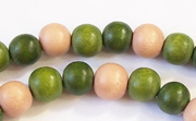 Round, 8mm, Wood, M42 beads, DYED WOODEN BEADS