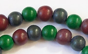 Round, 8mm, Wood, M25 beads, DYED WOODEN BEADS