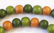 Round, 8mm, Wood, M6 beads, DYED WOODEN BEADS