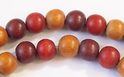 Round, 8mm, Wood, M26 beads, DYED WOODEN BEADS