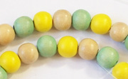 Round, 8mm, Wood, M43 beads, DYED WOODEN BEADS