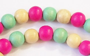 Round, 8mm, Wood, M35 beads, DYED WOODEN BEADS