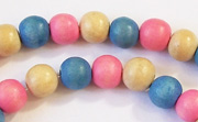 Round, 8mm, Wood, M36 beads, DYED WOODEN BEADS