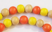Round, 8mm, Wood, M44 beads, DYED WOODEN BEADS