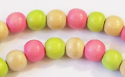 Round, 8mm, Wood, M37 beads, DYED WOODEN BEADS