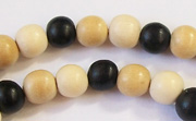 Round, 8mm, Wood, M29 beads, DYED WOODEN BEADS