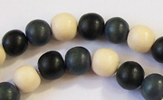Round, 8mm, Wood, M50 beads, DYED WOODEN BEADS