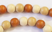 Round, 8mm, Wood, M30 beads, DYED WOODEN BEADS