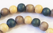 Round, 8mm, Wood, M31 beads, DYED WOODEN BEADS