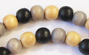Round, 8mm, Wood, M32 beads, DYED WOODEN BEADS