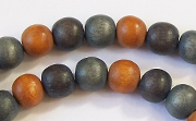 Round, 8mm, Wood, M7 beads, DYED WOODEN BEADS
