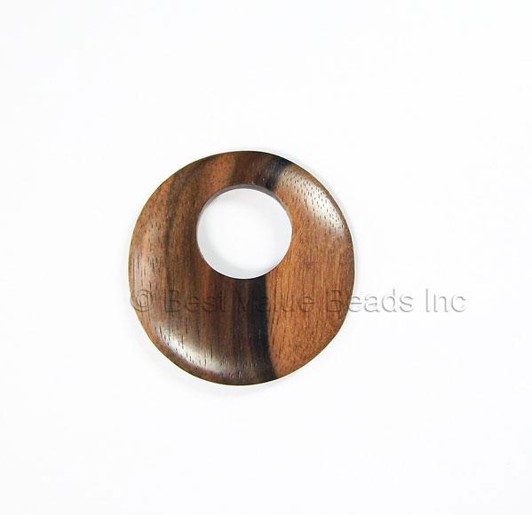 Wooden pendants manufacturer donut 40mm offset hole 16mm ebony beads exotic wooden pendants aloadofball Gallery
