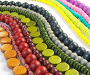 DYED WOODEN BEADS