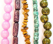 DYED  SEED & NUT BEADS