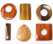 EXOTIC WOODEN PENDANTS