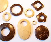 NATURAL COCONUT PENDANTS & PARTS