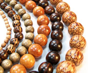 ROUND beads, EXOTIC WOODEN BEADS