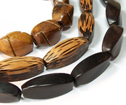 BALIMBING & TWISTED beads, EXOTIC WOODEN BEADS