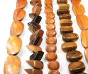 CHUNK NUGGETS beads, EXOTIC WOODEN BEADS