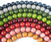 ROUND beads, DYED WOODEN BEADS
