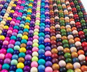 MIXED COLOUR BEAD STRANDS beads, DYED WOODEN BEADS