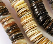 HEISHI 12mm TO 20mm beads, TROPICAL SHELL BEADS