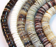 HEISHI 7/8mm beads, TROPICAL SHELL BEADS