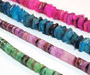 DYED HAMMER SHELL beads, DYED SHELL BEADS