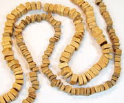 SQUARE CUT beads, NATURAL COCONUT BEADS