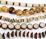 BURI beads, NATURAL SEED & NUT BEADS