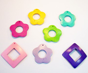 OTHER SHAPES beads, DYED COCONUT PENDANTS & PARTS